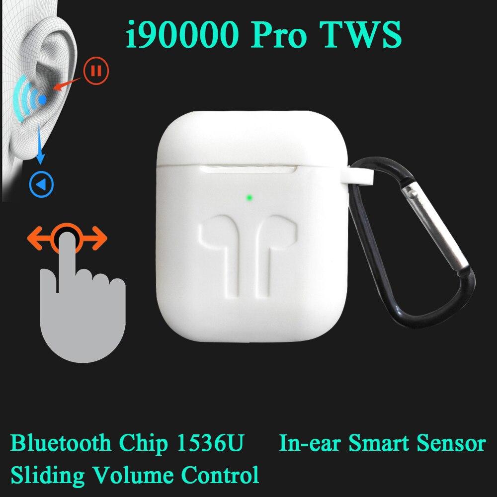 I90000 Pro TWS 1:1 sans fil écouteur 8D Super basse Bluetooth 5.0 écouteur coulissant réglage du Volume écouteurs PK i9000 i30000tws
