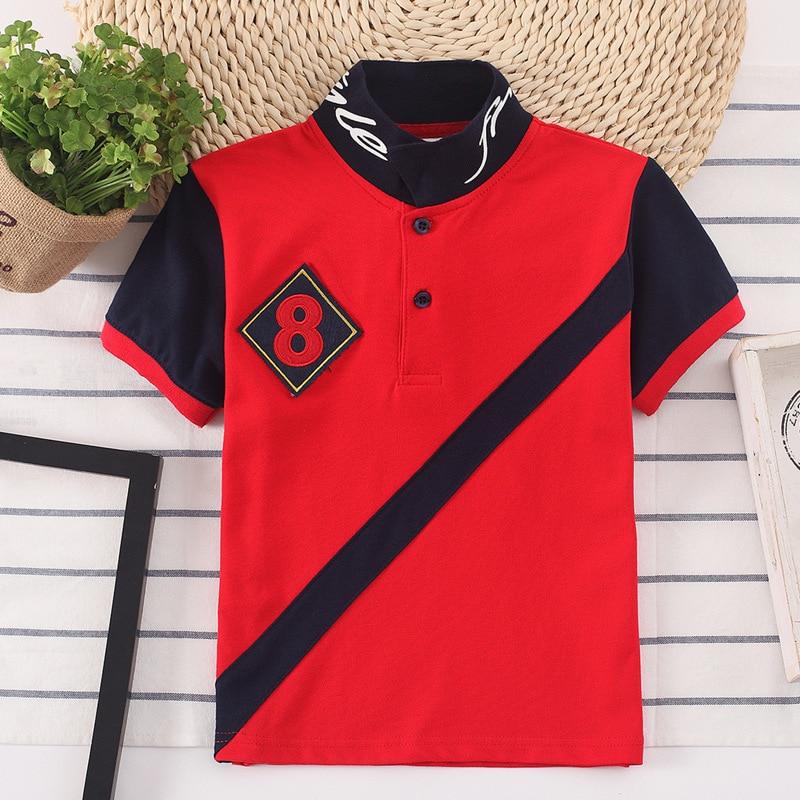 2020 Kids Polo Shirt Baby Boys Sports Tops Fashion Patchwork Boy Shirt Boys Clothes 2 3 4 5 6 7 8 9 10 11 12 13 14 Years