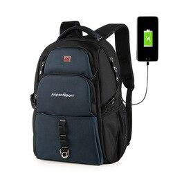 Sac à dos mâle avec chargement USB et protection contre le vol adapté au sac à dos de voyage multifonction pour ordinateur portable 15-17 pouces