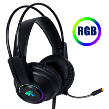Cosbary Gaming Headset with Mic 3.5mm Wired Earphone Stereo Sound LED light Game Headphone for PC Gamer Computer Laptop Xbox brand ttlife a8 gaming headset shock led bass sound earphone 2 0m wired headphone voice control with mic for computer gaming