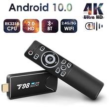 Mini Android Tv Stick Box TV Android 10 4K Android Tv, pudełko inteligentna przystawka wi fi do telewizora Tv, pudełko odtwarzacz multimedialny odbiornik Tv dekoder Android 10