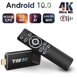 Image 1 - Mini Android Tv Stick Box TV Android 10 4K Android Tv, pudełko inteligentna przystawka wi fi do telewizora Tv, pudełko odtwarzacz multimedialny odbiornik Tv dekoder Android 10