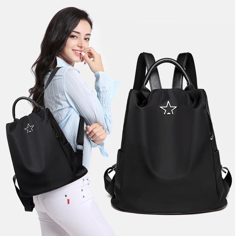 Oxford Cloth Backpack Women 2018 Korean New Fashion Large Capacity Anti-theft Travel Bag Small Backpack Purse Bookbag
