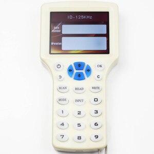Image 4 - 10 anglais fréquence RFID copieur duplicateur 125KHz porte clés NFC lecteur écrivain 13.56MHz crypté programmeur USB UID copie carte étiquette