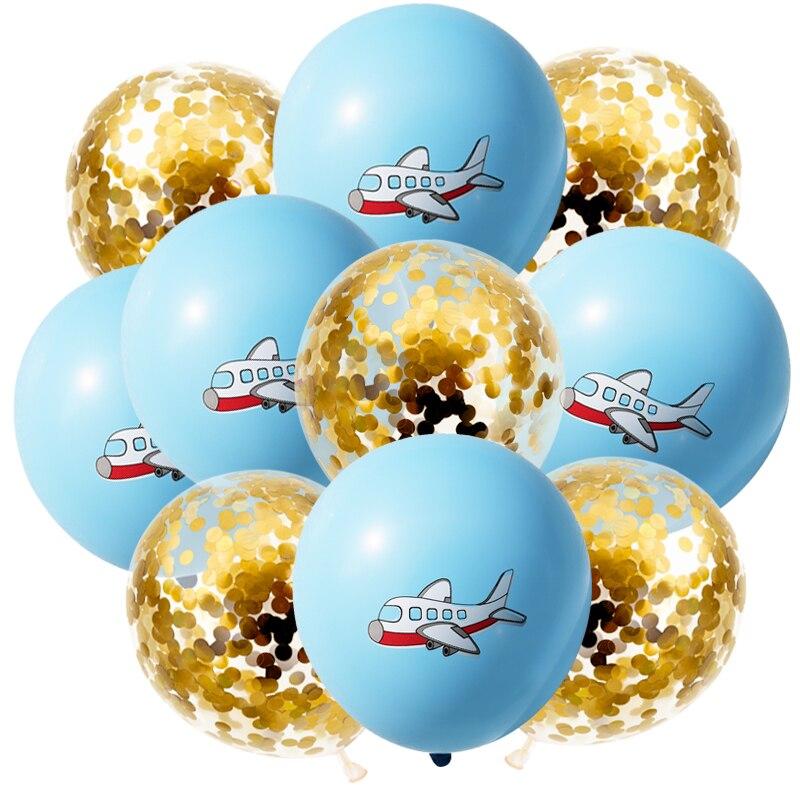 BA2808-10金亮片飞机气球