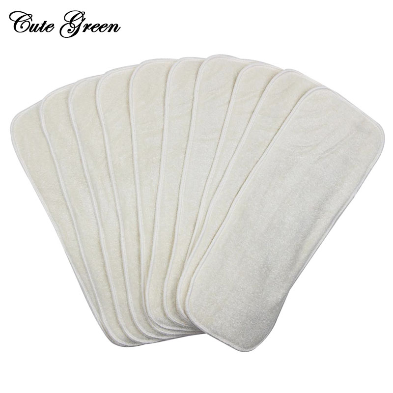 Reusable Diaper Insert Bamboo For Pocket Baby Cloth Nappy Diaper Changing Pad Microfibre  Washable Cloth Inserts Boosters Liners