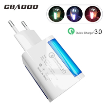 2 USB Port Phone Charger 18W Quick Charge 3.0 Fast Mobile EU US Plug Wall Adapter Desktop Dock