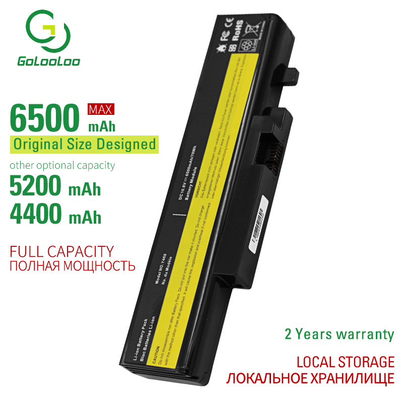 Golooloo Laptop Battery For LENOVO L09N6D16 L09S6D16 L10L6Y01 L10L6Y01 L10N6Y01 L10S6Y01 IdeaPad Y460 Y560 B560 Y560A