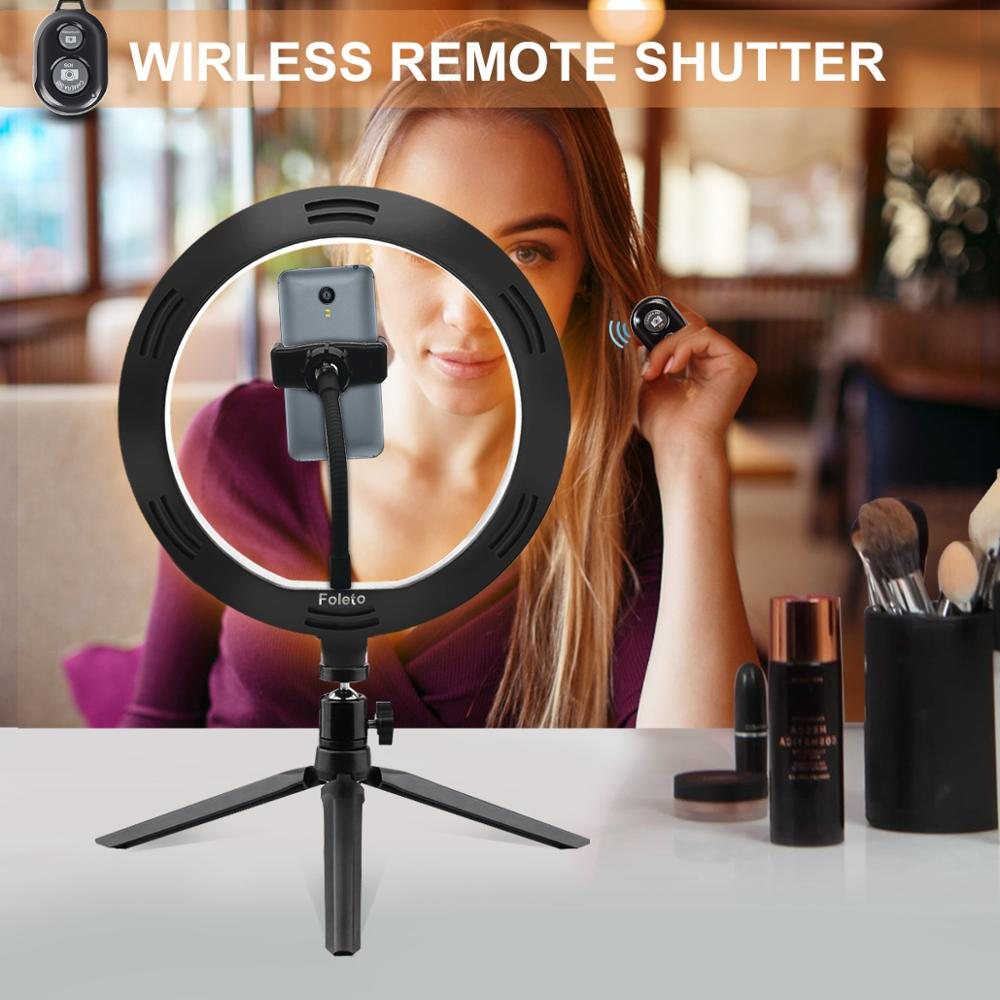 Rovtop 10 Inch Selfie Ring Light with Ring Stand for iPhone Tripod and Phone Holder for Video Photography 3