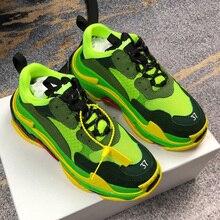 גברים נשים ריצה נעלי אופנה מותג יוניסקס ספורט מקרית סניקרס מעורב צבעים ספורט נעליים לנשימה לזכר נקבה נעליים