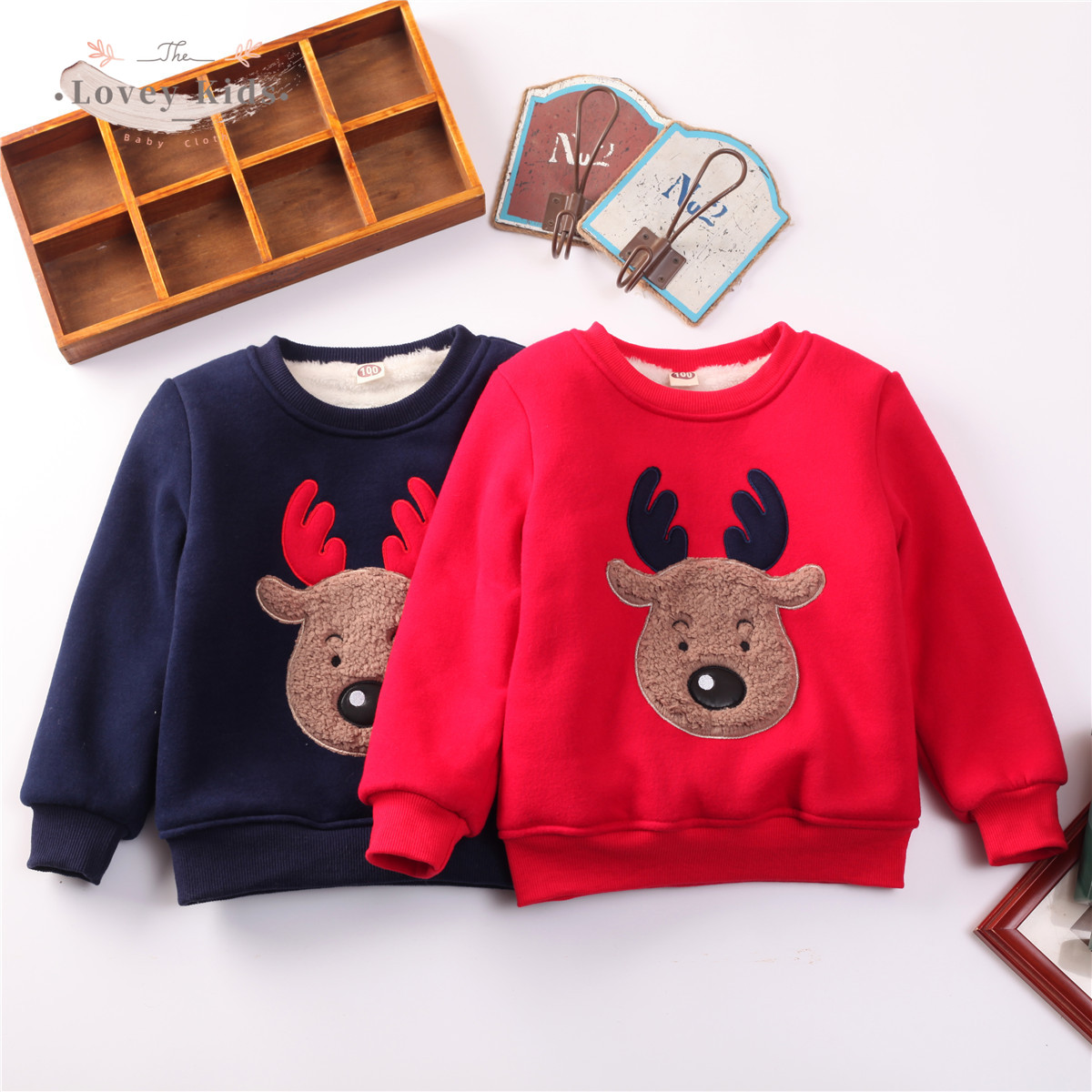 2020 Baby Girl Boy Sweatshirts Pullover Christmas Xmas Deer Print Winter Warmer Long Sleeve Tops Kids Clothes  Unisex Costume 1