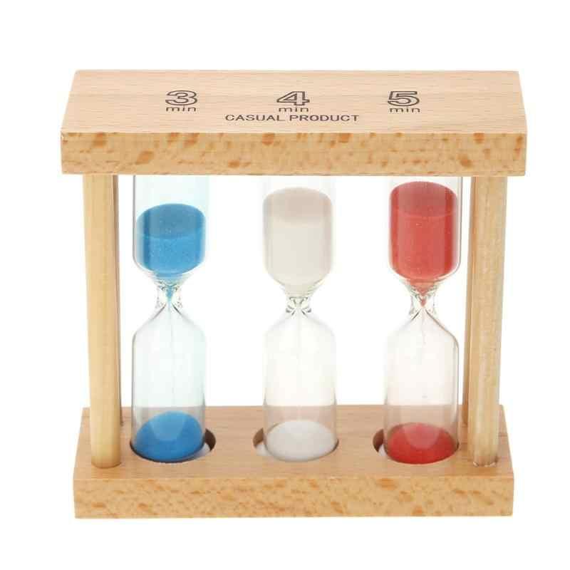 1/3/5 3/4/5 分木製砂時計砂時計の砂クロックタイマーキッズギフトホーム装飾飾りカラフルな砂時計