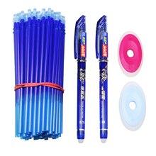 54 Pcs/set Erasable Gel Pen Refills Rod 0.38mm Washable Handle Magic Erasable Pen for School Pen Writing Tools Kawaii Stationery