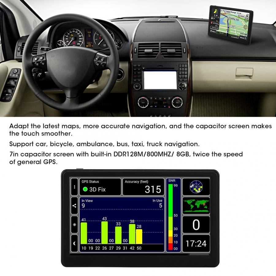 Touch-Screen Navigation Vehicle Gps Portable 8GB 7in Capacitive High-Definition