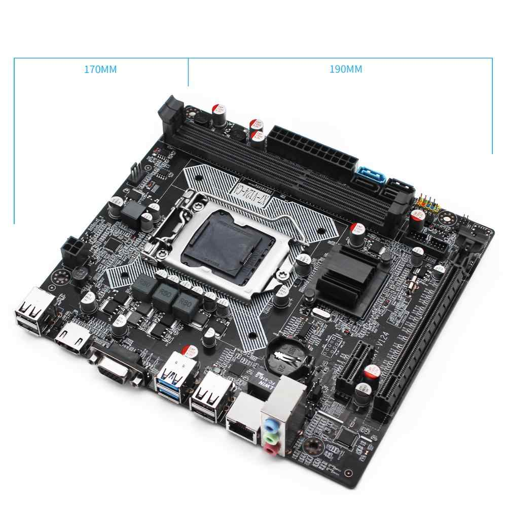 Makinist B75 masaüstü anakart LGA 1155 m-atx desteği Intel i3/i5/i7 işlemci ve DDR3 32G RAM bellek X7-V124 anakart