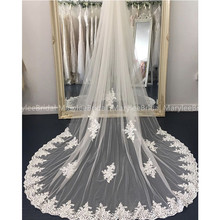 Romantic White / Ivory Wedding Veils Top Quality Tulle With