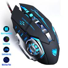 Gaming Mouse Mause DPI Adjustable Computer Optical LED Game Mice Wired USB Games Cable Silent Mouse LOL for Professional Gamer