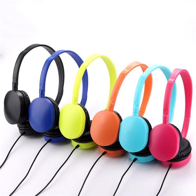 어린이 헤드폰 Foldable 조절 유선 헤드폰 헤드셋 어린이 Mp3 스마트 폰에 대 한 3.5mm 오디오 잭