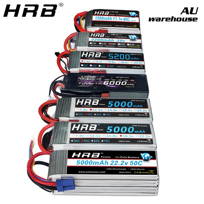 HRB 2S 7.4V 5200mAh 50C Lipo