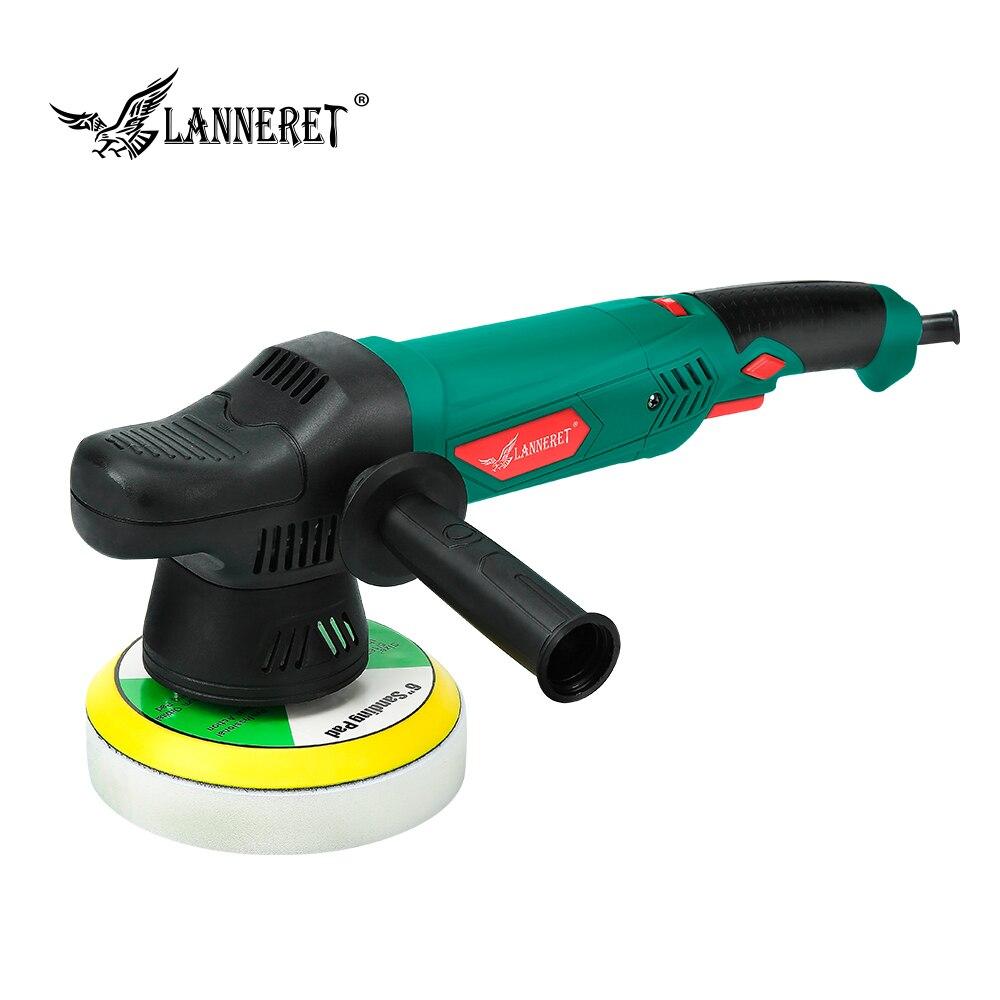 Lanneret 6 dual polidupla ação polidor 900 w velocidade variável polisher elétrico choque e polimento máquina mais limpa polimento almofada