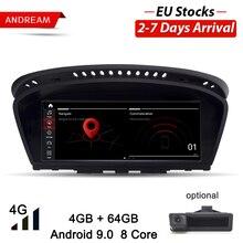 "Andream 8,"" Android 9,0 8 ядерный 4G 64G Автомобильный мультимедийный плеер для BMW серии 5/3 E60 E61 E62 E63 E90 E91GPS навигация авто радио"