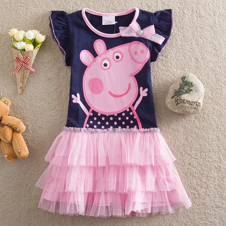 Peppa Pig Original Dolls Figure Toys Kids Girl Dress Girls Lace Peppa Pig Girl Dress Gifts Peppa Pig Original Dolls Vestidos