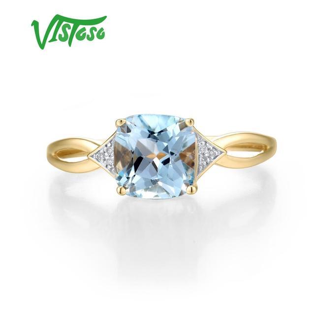 585 Yellow Gold Blue Topaz Ring 1
