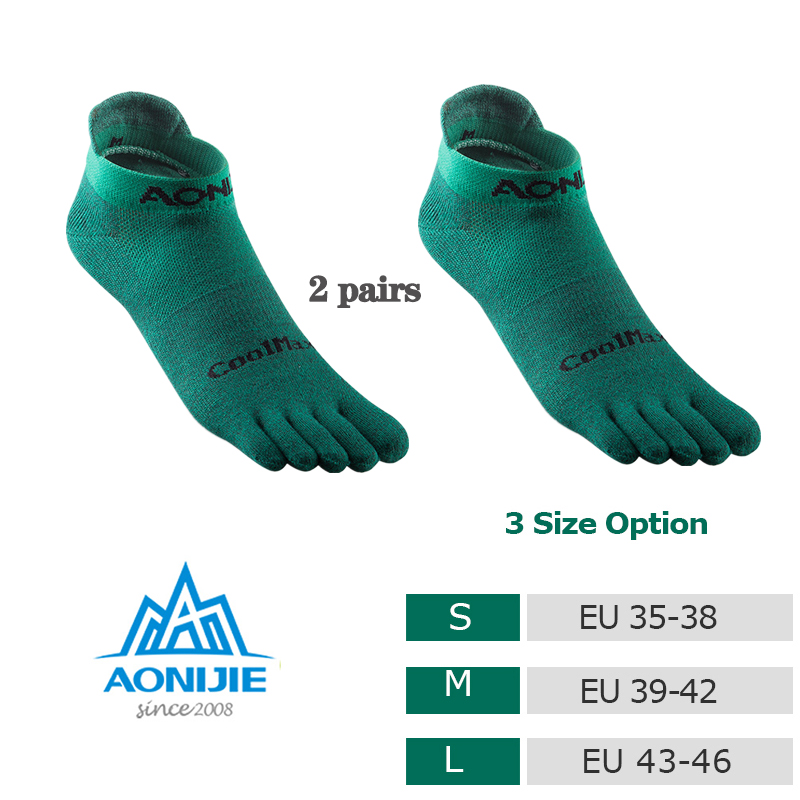 Toe Socks 2020 New CoolSpec Run Lightweight No-show Blister prevention Five Fingers Running Basketball Pilates Yoga Socks Men