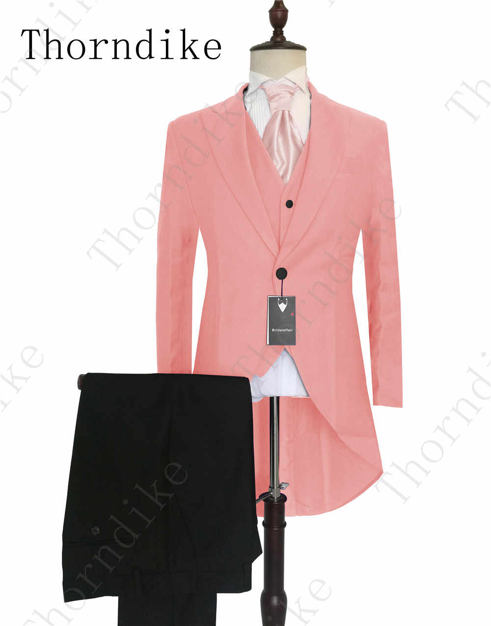 2020 Pink Italian Stylish Mens Tailcoat Wedding Suits Groomsmen Suits Slim Fit Groom Tuxedos Men Suit Set Jacket Pants Vest Suits Aliexpress