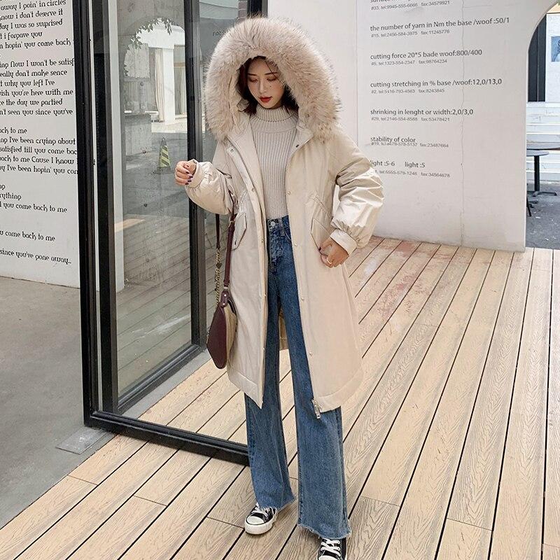 Down Parka Women Duck Down Jackets Female Winter Coat 2020 New Long Hoody Natural Raccoon Fur Overcoat Plus Size 19R02135