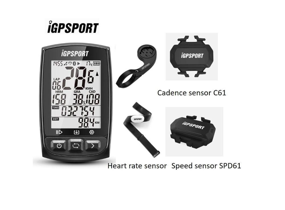 Igpsport IGS50E Gps Fietsen Computer Draadloze Fiets Digitale Stopwatch Fietsen Snelheidsmeter Ant + Bluetooth 4.0 Met 12 Opties