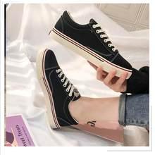 Frühling 2020 Koreanische Version Trend Von Komfortable Und Modische Studenten Wilde Weiche Einfarbig frauen Leinwand Schuhe