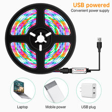 RGB LED Strip Remote Control SMD2835 Waterproof LED Belt 1M 2M 3M 5M Symphony Decoration for Home Garland Curtain Tape Light
