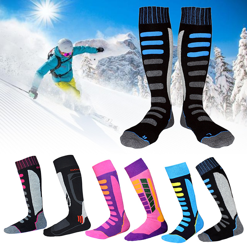 Ski Snowboard Socks Hiking Walking Men Women Running Sport Sock Thermal Long Ski Socks EU 27-46 Winter Skiing Socks