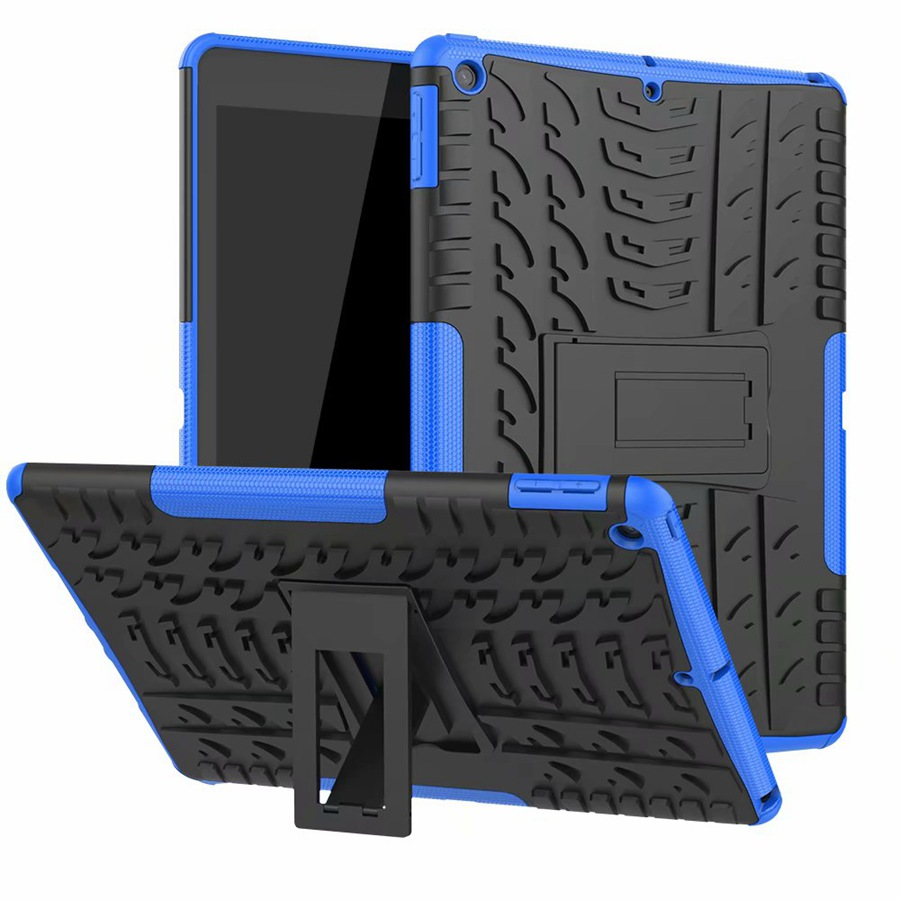 blue Green Heavy Duty Rugged Armor Case For Apple ipad 10 2 2019 TPU PC Shockproof Cover For
