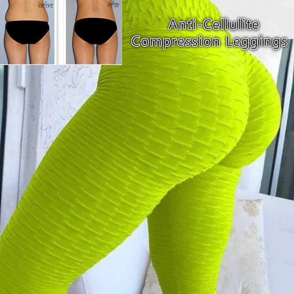 Anti-Cellulite การบีบอัด Leggings เซลลูไลท์ Oppressive ตาข่ายไขมัน Burner การออกแบบลดน้ำหนักโยคะ Leggings Face Lift เครื่องมือ