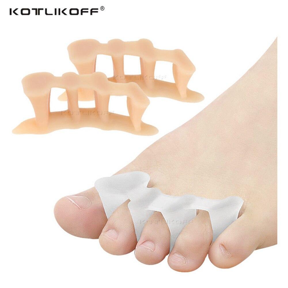 Séparateur dorteils en Silicone souple pour séparer tous les orteils, grand os, Hallux Valgus, correcteur Bunion, lisseur, Inserts orthopédiques