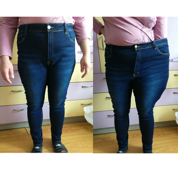 jean jeans for women with high waist pants for women plus up large size skinny jeans woman 5xl denim modis streetwear 3