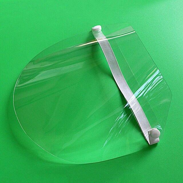 Transparent Adjustable Full Face Shield Plastic Anti-fog Anti Saliva Splash Protective Mask Dust Cover Mask Shield 5