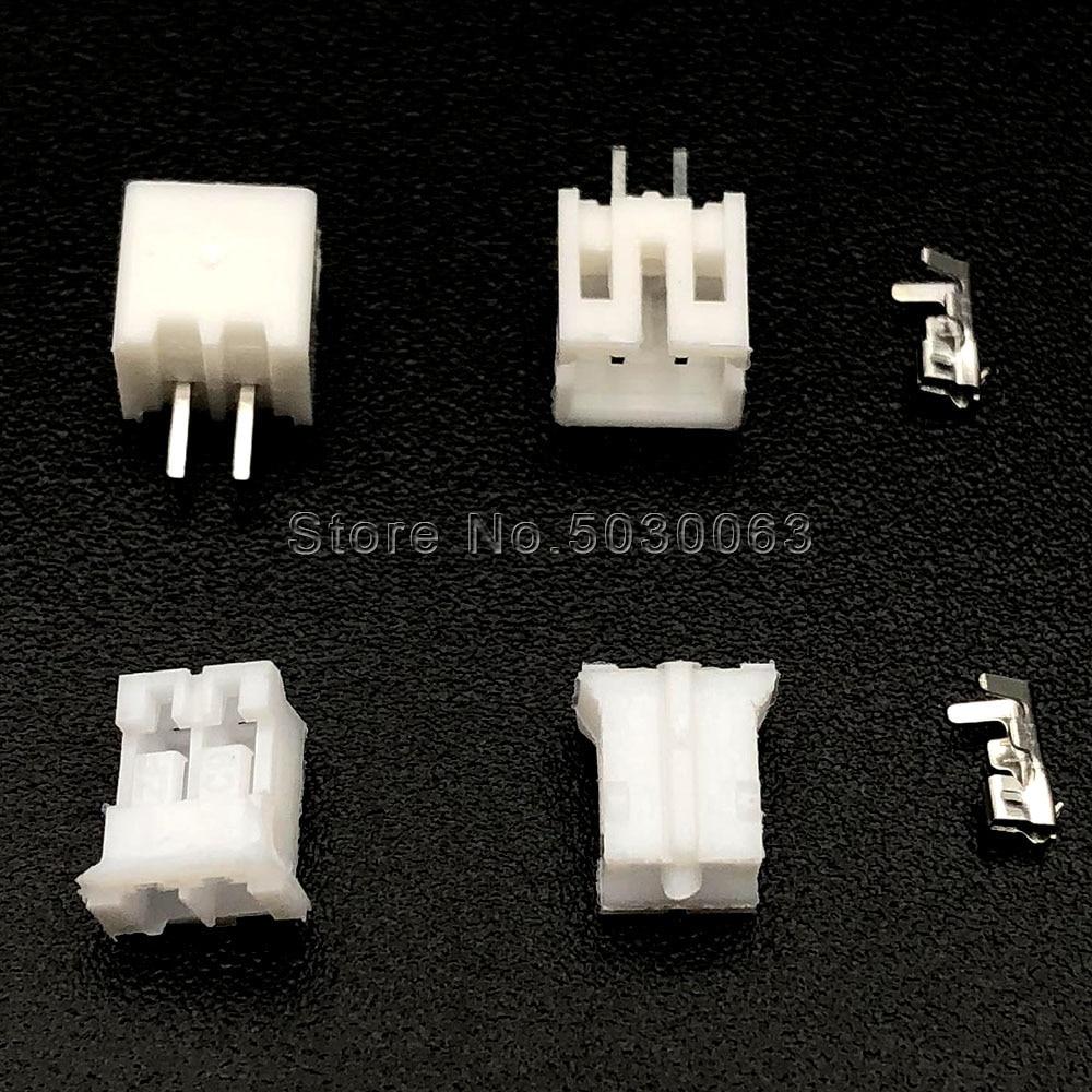 320 шт. = 80 комплектов PH2.0 шаг 2,0 мм 2p 2-контактный Штекерный гнездовой комплект клемм/корпус/штырьковый разъем прямые JST наборы адаптеров для пр...