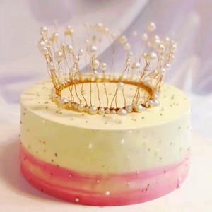 Image 5 - Блестящий мини Топпер для торта в виде короны, металлический жемчуг, Топпер для торта на день рождения, украшение для торта на свадьбу и помолвку, милые украшения для торта на 16 вечеринок
