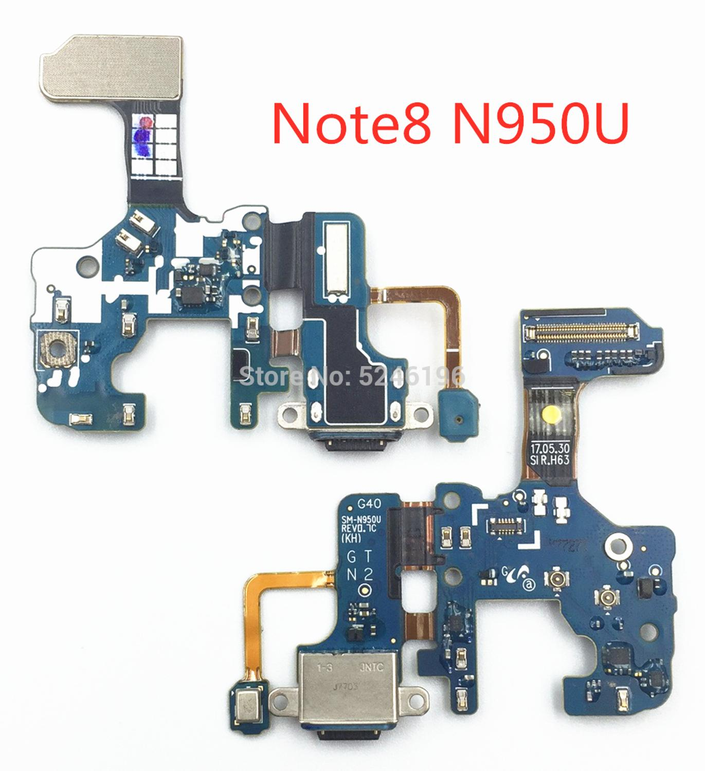 1pcs USB Charging Charger Dock Port mini Micro Connector Flex Cable For Samsung Galaxy <font><b>Note</b></font> <font><b>8</b></font> SM-N950U N950F PCB Circuit <font><b>board</b></font> image