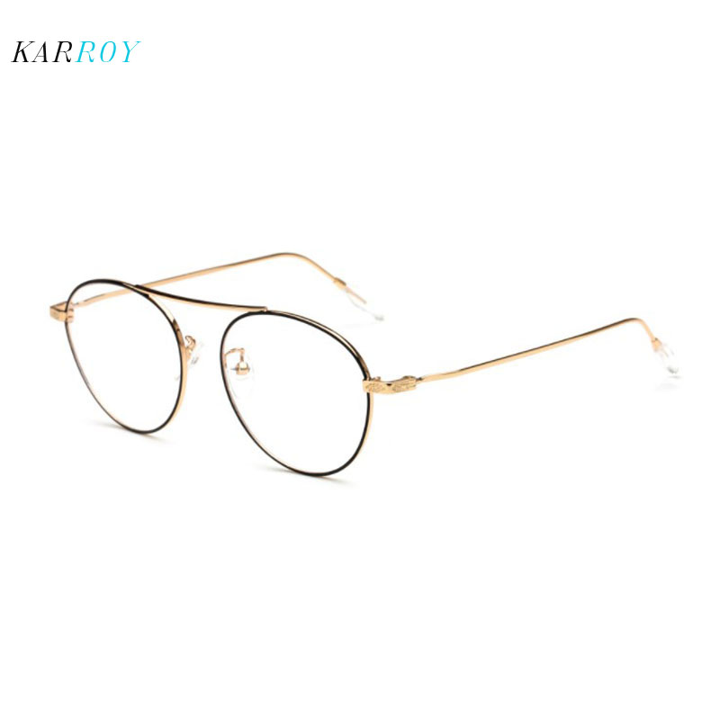 Retro Large Frame Plain Glasses Women New Round Myopic Spectacle Men Unisex Fashion Optical