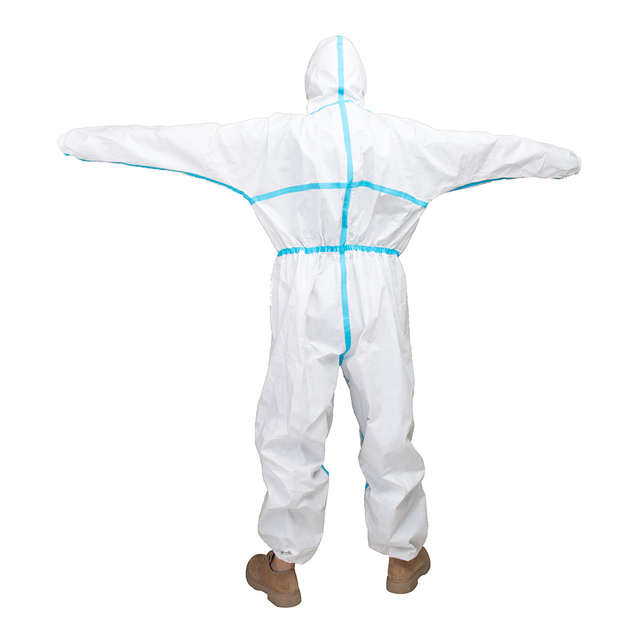 Protective Clothing ppe suit coverall Waterproof Prevents Invasion Plastic Insulation Suit Washable and Reusable 2