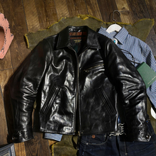 Jacket Horsehide Genuine-Horse-Leather Description Slim Rider Read Stylish Classic CDJ-97