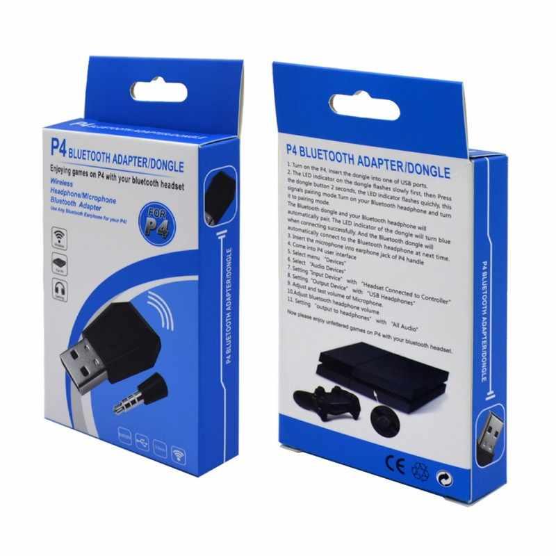 Kablosuz bluetooth adaptörü PS4 Gamepad oyun denetleyicisi konsolu kulaklık USB Dongle sony playstation 4 denetleyici