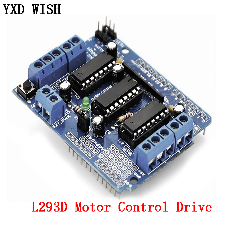 L293D Motor Control Drive Shield Dual For Arduino Mega2560 4 Channel L293 Motor Drive Expansion Board Motor Driver Module