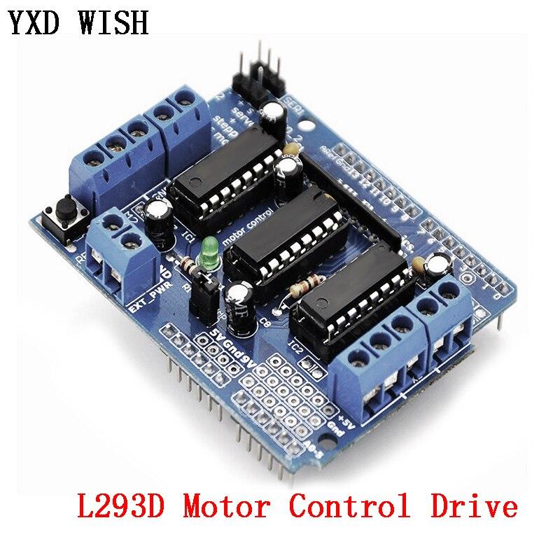 L293D Motor Control Drive Shield Dual For arduino Mega2560 4 Channel L293 Motor Drive Expansion Board Motor Driver Module