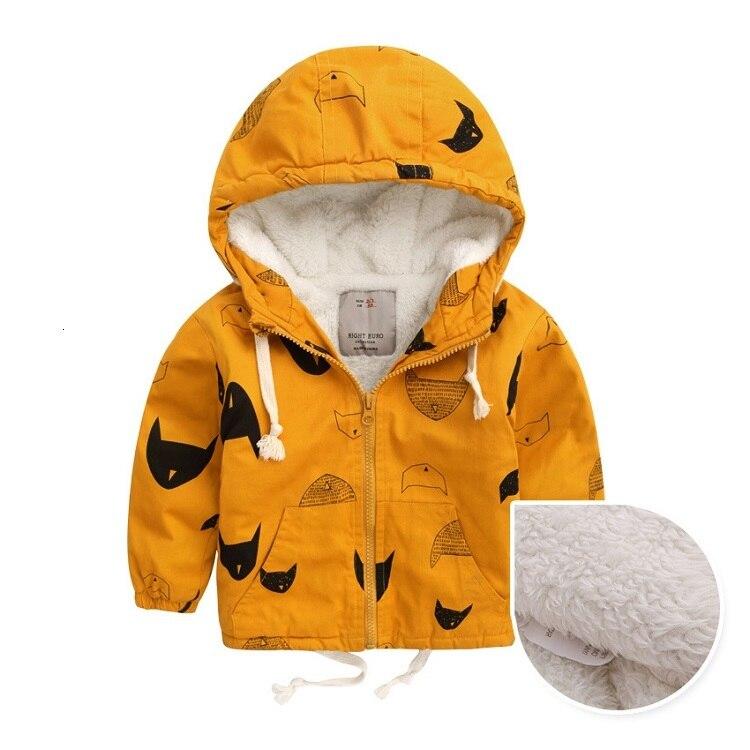 Benemaker Winter Fleece Jackets For Boy Trench Children's Clothing 2-10Y Hooded Warm Outerwear Windbreaker Baby Kids Coats JH019 6