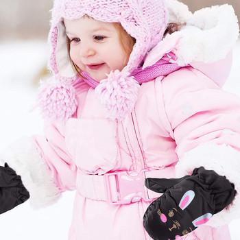 Rękawiczki narciarskie dla dzieci królik z długimi rękawami rękawice zimowe wiatroszczelne wodoodporne grube ciepłe antypoślizgowe 5-8 rękawiczki lat tanie i dobre opinie CN (pochodzenie) Poliester Polyester Cartoon Unisex Kids Gloves Mittens 5-8T